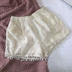 Anthropologie lace design shorts